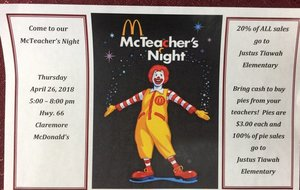 McTeacher's Night Coming Soon!